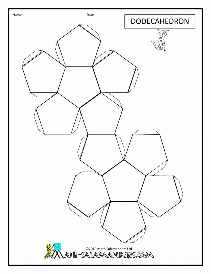 12 Sided Dice Template Beautiful the 25 Best Dodecahedron Template Ideas On Pinterest