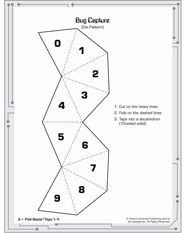 12 Sided Dice Template Elegant Game Resources