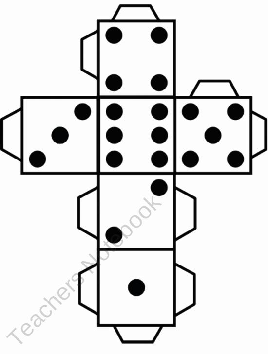 12 Sided Dice Template Inspirational 3d Cube Template Dice Dice