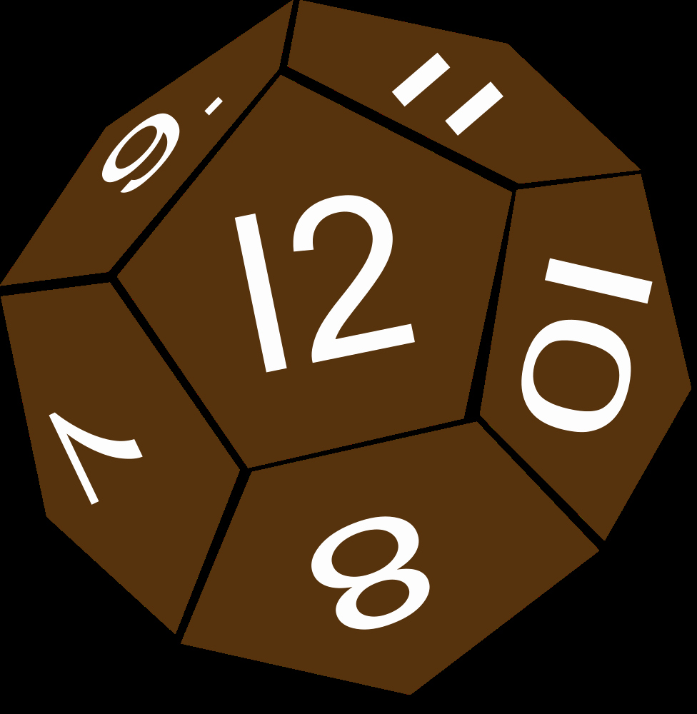 12 Sided Dice Template Inspirational Linelabels Clip Art D12 Twelve Sided Dice