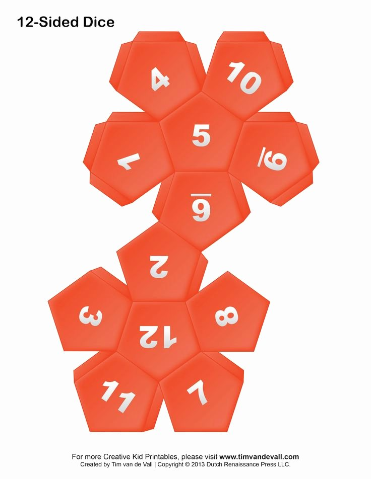 12 Sided Dice Template Lovely 18 Best Make Your Own Dice Images On Pinterest