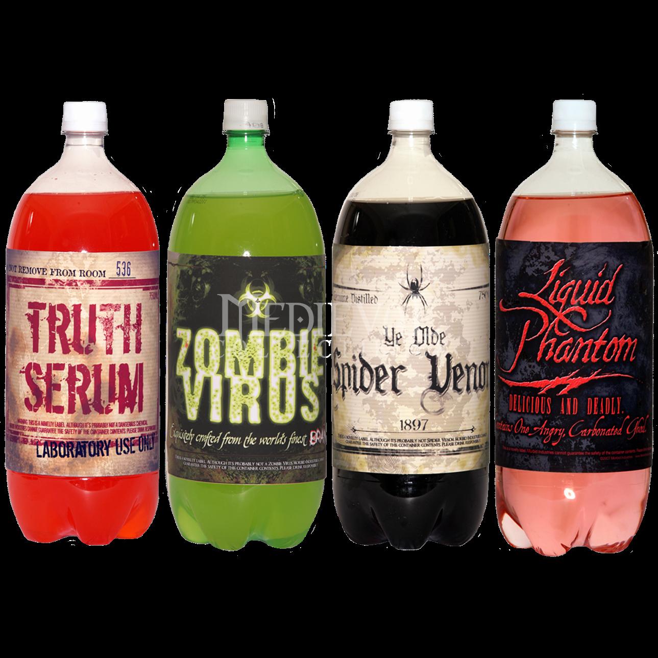 printable halloween labels for 2 liter bottles