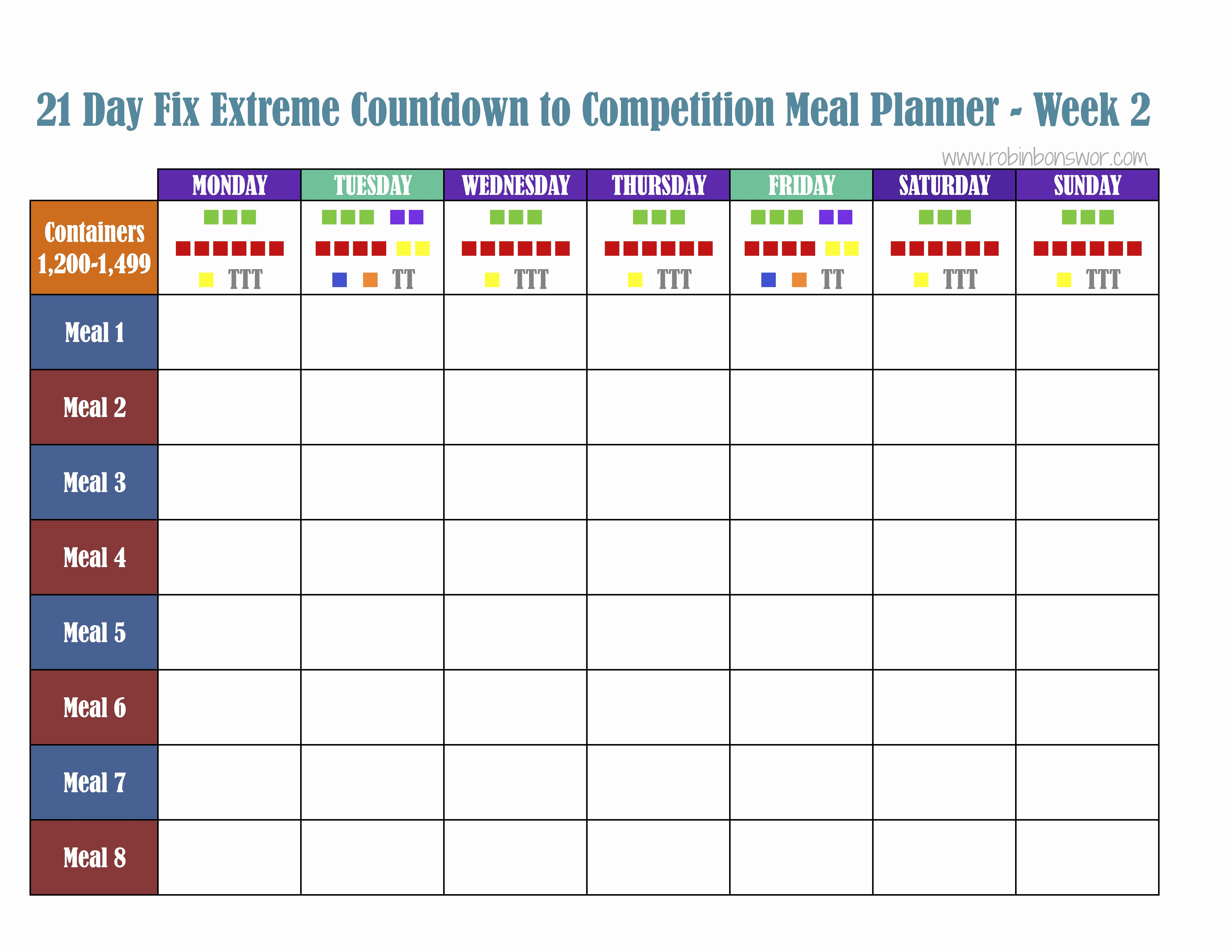 21 Day Fix Calendar Template Luxury 21 Day Fix Meal Plan tools