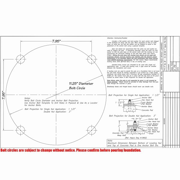 3 Inch Diameter Circle Template Awesome 15 Foot 5 Inch Square Fiberglass Light Pole