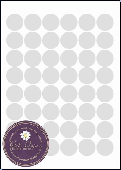 3 Inch Diameter Circle Template Best Of Cik Ayu S Edible Image ordering Templates