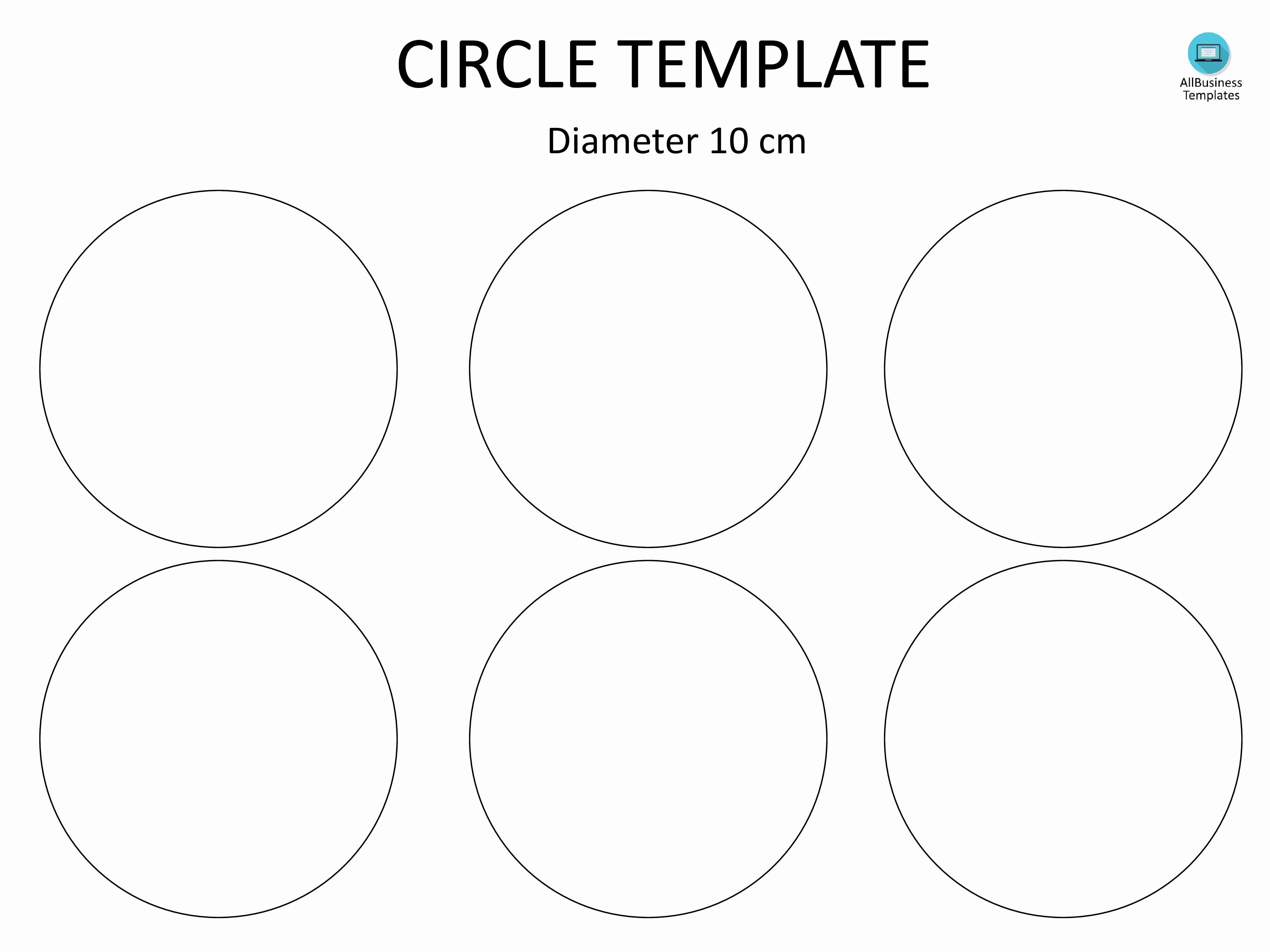 3 Inch Diameter Circle Template Best Of Free Circle Template with 10cm Diameter