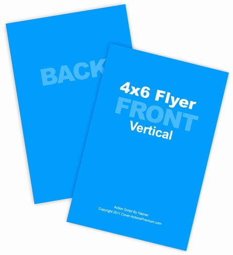 4x6 Flyer Template Awesome 4x6 Vertical Flyer Mockup Action