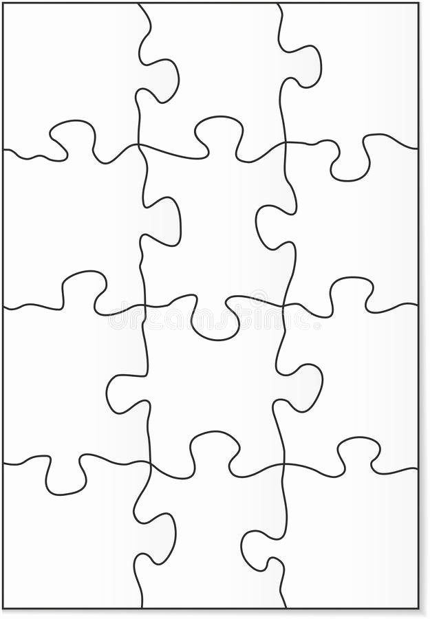 stock photos 12 piece puzzle template image