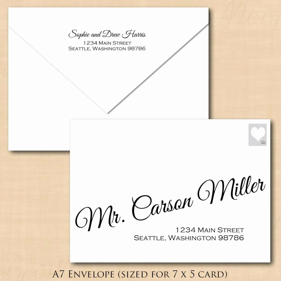 A7 Envelope Template Word Elegant Change All Colors Calligraphy Address Wedding Envelope