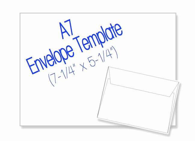 A7 Envelope Template Word Unique A7 Envelope 7 1 4 X 5 1 4 Blank by Heritageexpressions On Etsy