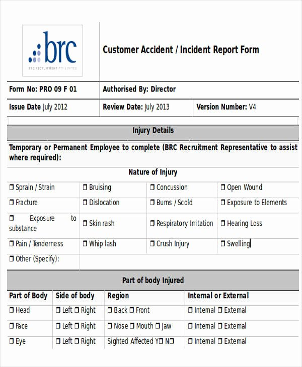 Accident Report Template Word Elegant 28 Incident Report Templates In Word