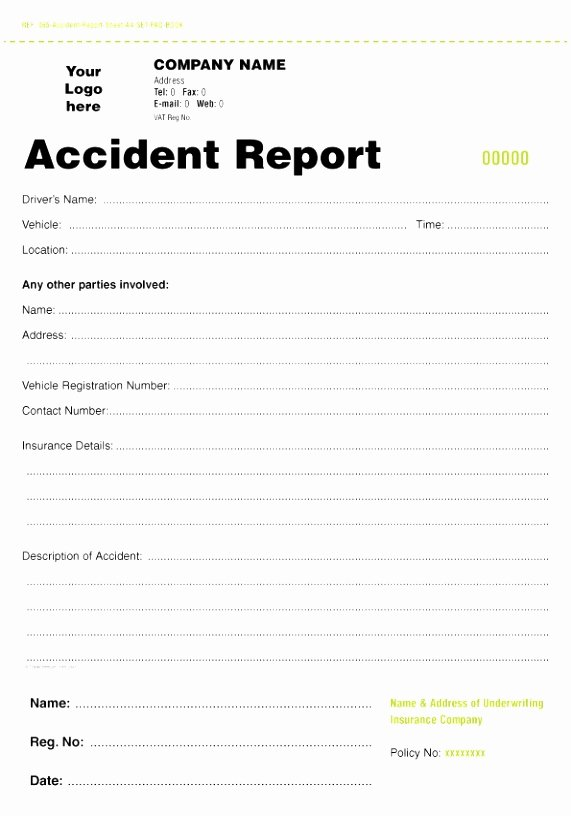 Accident Report Template Word Lovely 5 Accident Report form Template Uk Oteuo
