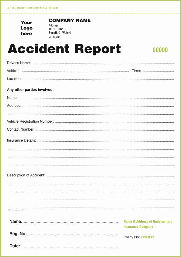 Accident Report Template Word Unique Templates for Accident Report Book and Vehicle Condition