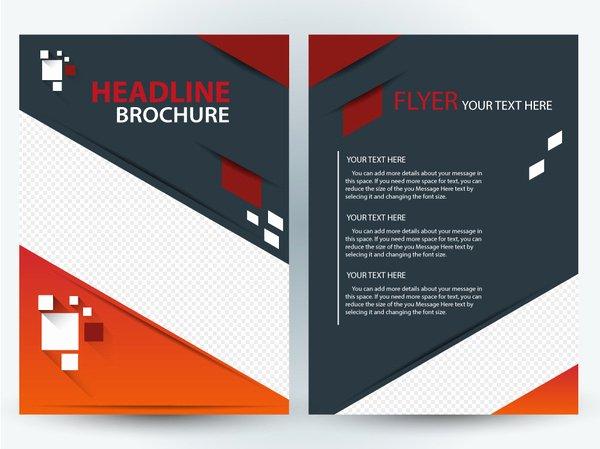 Adobe Illustrator Brochure Templates Awesome Flyer Brochure Template Design with Diagonal Illustration