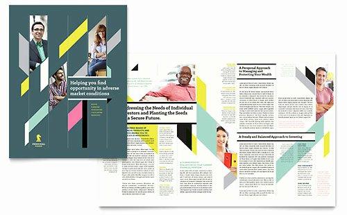 Adobe Illustrator Brochure Templates Beautiful Personal Finance Adobe Illustrator Brochure Template