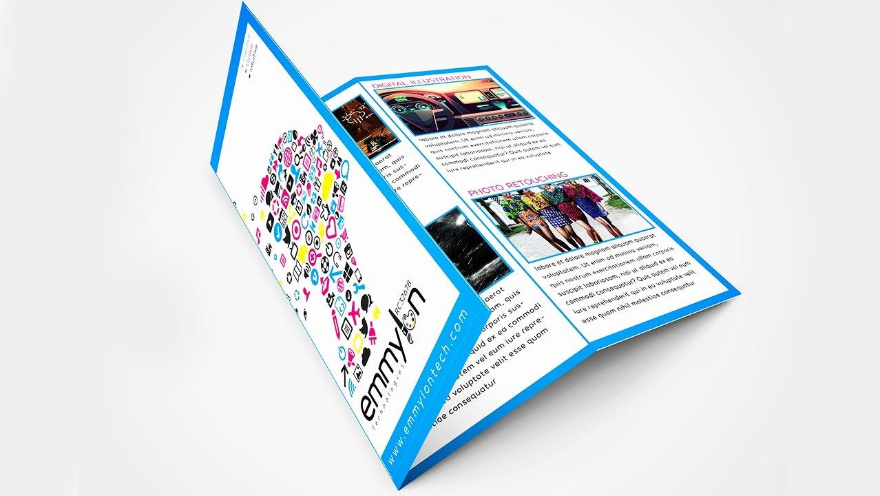 Adobe Illustrator Brochure Templates Luxury Tri Fold Brochure Design Layout