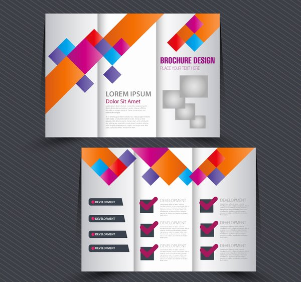 Adobe Illustrator Brochure Templates New Brochure Design with Trifold Colorful Template