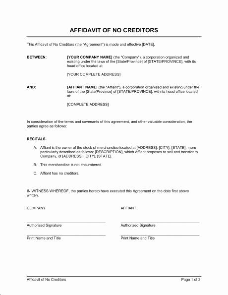 Affidavit Of Income Fresh Affidavit Of No In E Template In E Proof Letter Sample