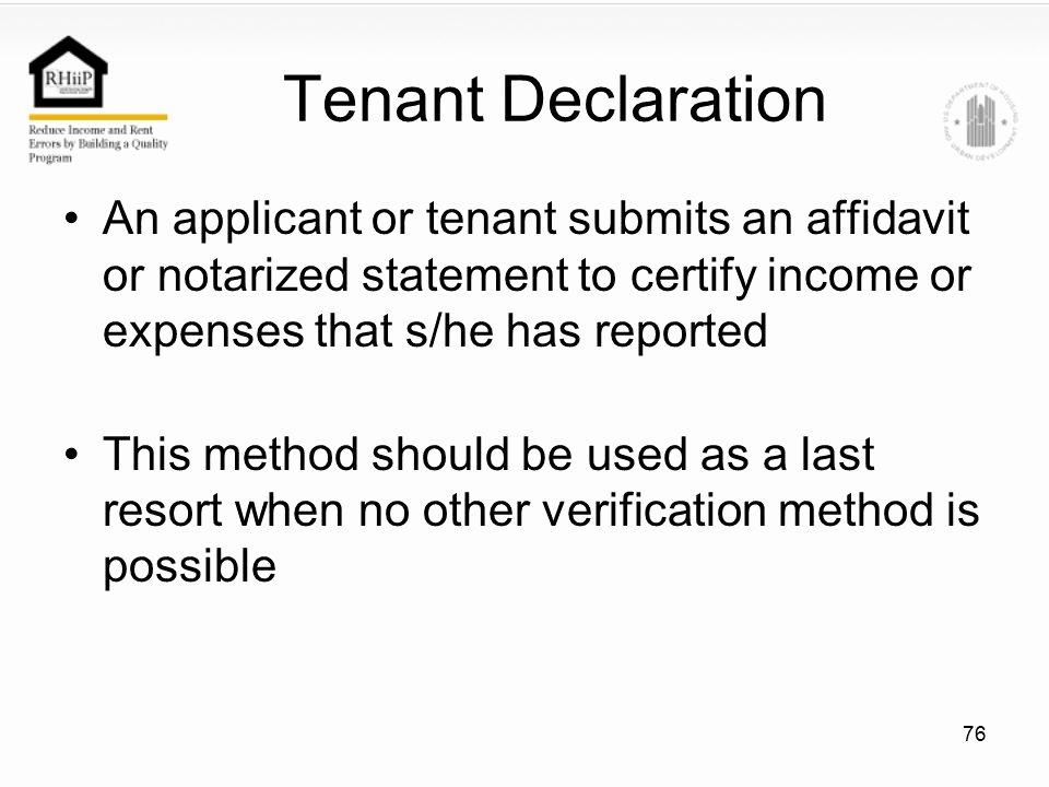 Affidavit Of No Income Unique Chapter 4 Verifications Ppt