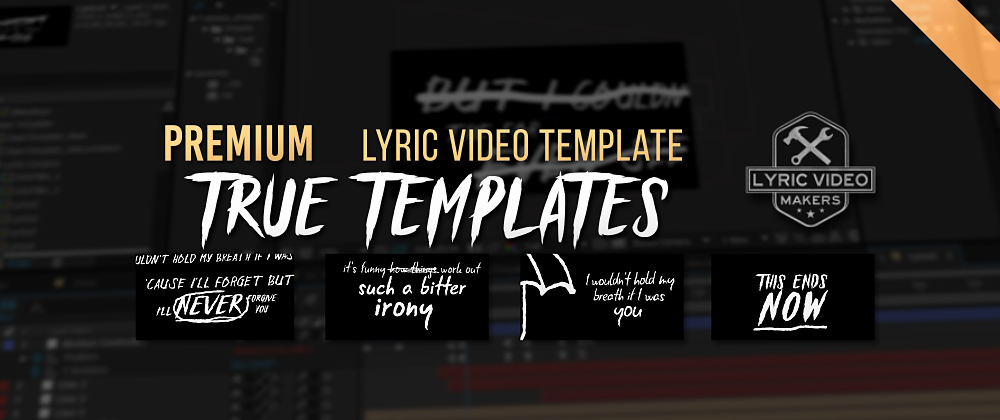 After Effects Lyric Video Lovely Bring Me the Horizon Lyric Video after Effects Template