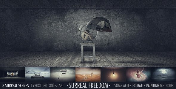 After Effects Lyric Video Template Beautiful Surreal Freedom after Effects Project Videohive Free