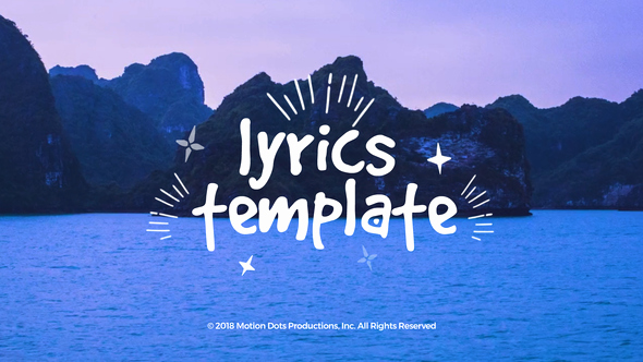 After Effects Lyric Video Template Best Of Lyrics Template Videohive Findgfx