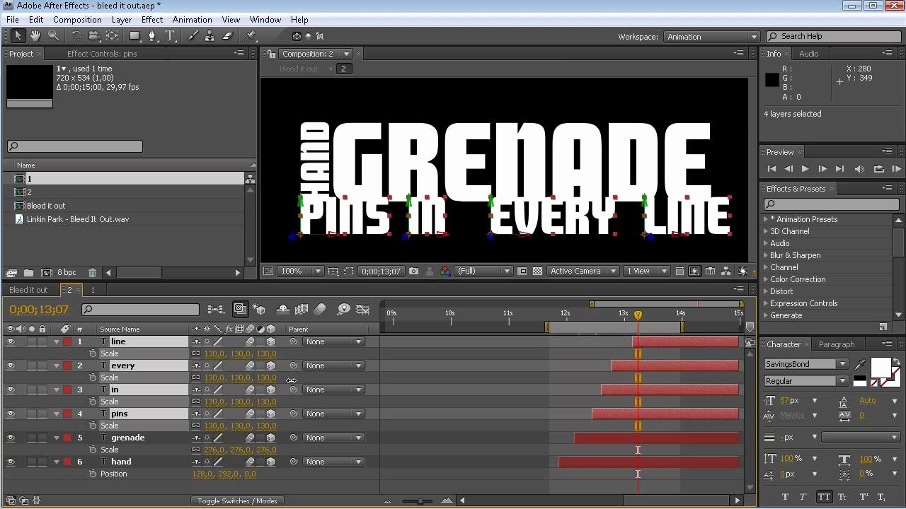 After Effects Lyric Video Template Inspirational Tutorial Video Lyrics Adobe after Effects