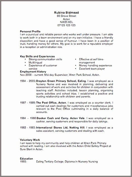 Air force Position Paper Template Beautiful Cv Template 6 Resume Cv