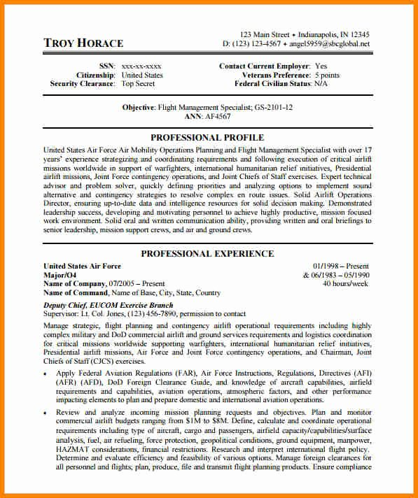 Air force Position Paper Template Luxury 7 Example Of Federal Resume