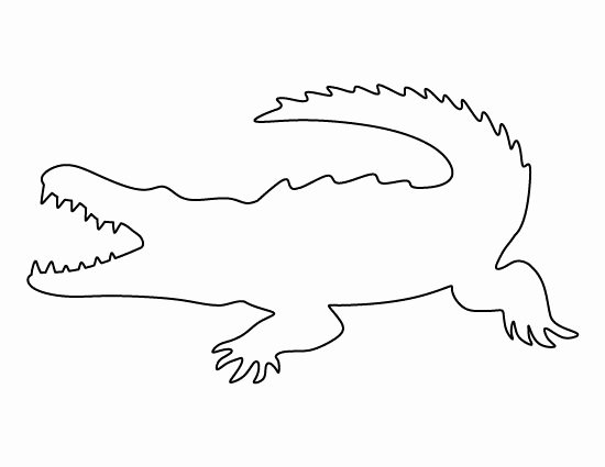 Alligator Template Printable Awesome 138 Best Images About Printable Stencils On Pinterest