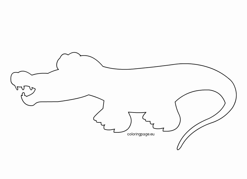 Alligator Template Printable Awesome Crocodile Outline