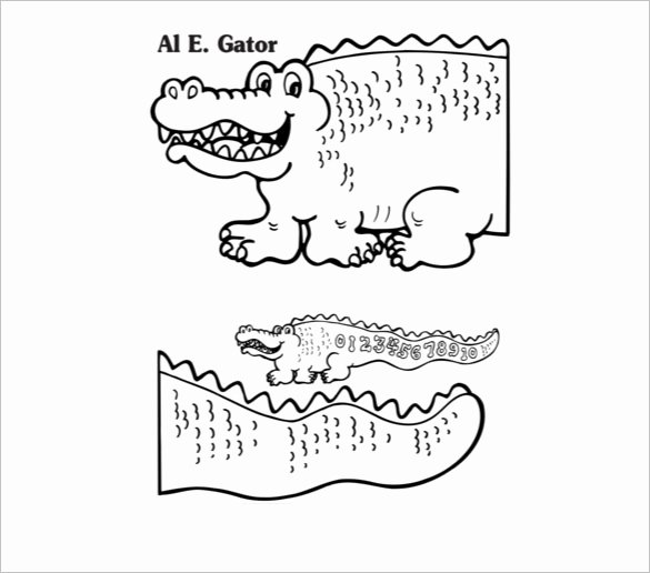 Alligator Template Printable Beautiful 14 Alligator Templates Crafts & Colouring Pages