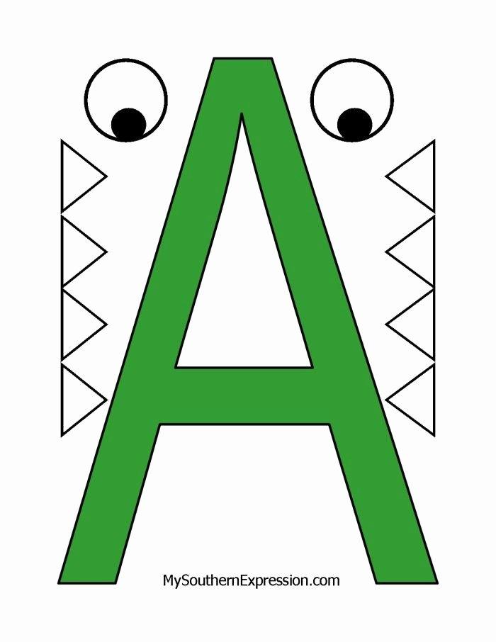 Alligator Template Printable Elegant Letter Of the Week for Preschool Aged Children Letter A