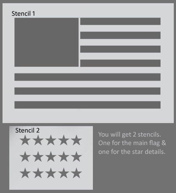 American Flag Star Stencil Printable Awesome American Flag Stencil Usa Flag Wall Art Star Spangles