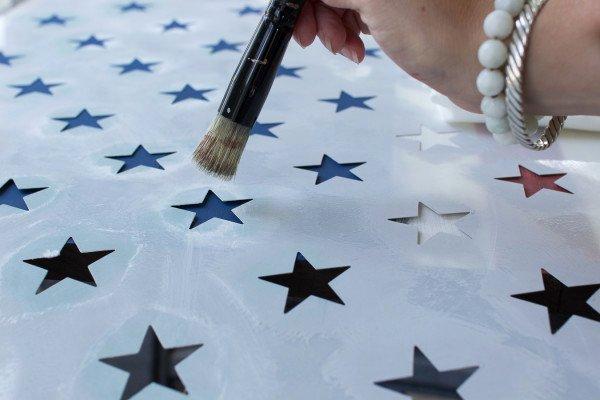 American Flag Star Stencil Printable Beautiful Diy Rustic American Flag Finding Silver Pennies