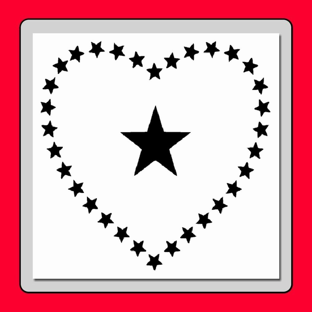 American Flag Star Stencil Printable Elegant 10 X 10 Patriotic Heart Of Stars Stencil American Usa Flag