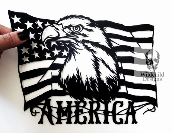 American Flag Star Stencil Printable Inspirational American Flag Personal Use Diy Paper Cut Template by