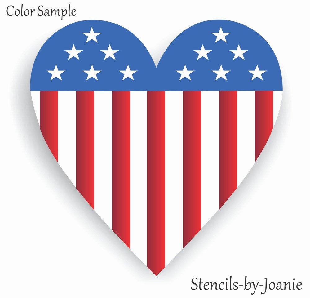 American Flag Star Stencil Printable Luxury Patriotic Stencil Americana Heart Flag Stars Stripes