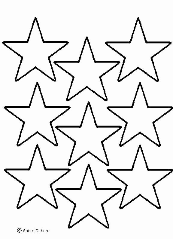 American Flag Star Stencil Printable Luxury Star Templates to Print Clipart Best