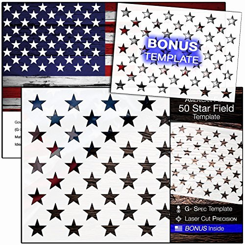 American Flag Star Stencil Printable New Buy Airbrush Materials Painting Line