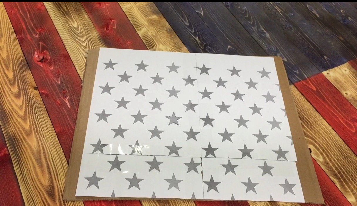 American Flag Star Stencil Printable Unique Diy Fifty Star Stencil American Flag the Furrminator