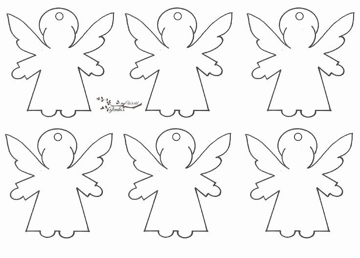 Angel Tree Template Lovely 446 Best Anjos Angel Images On Pinterest
