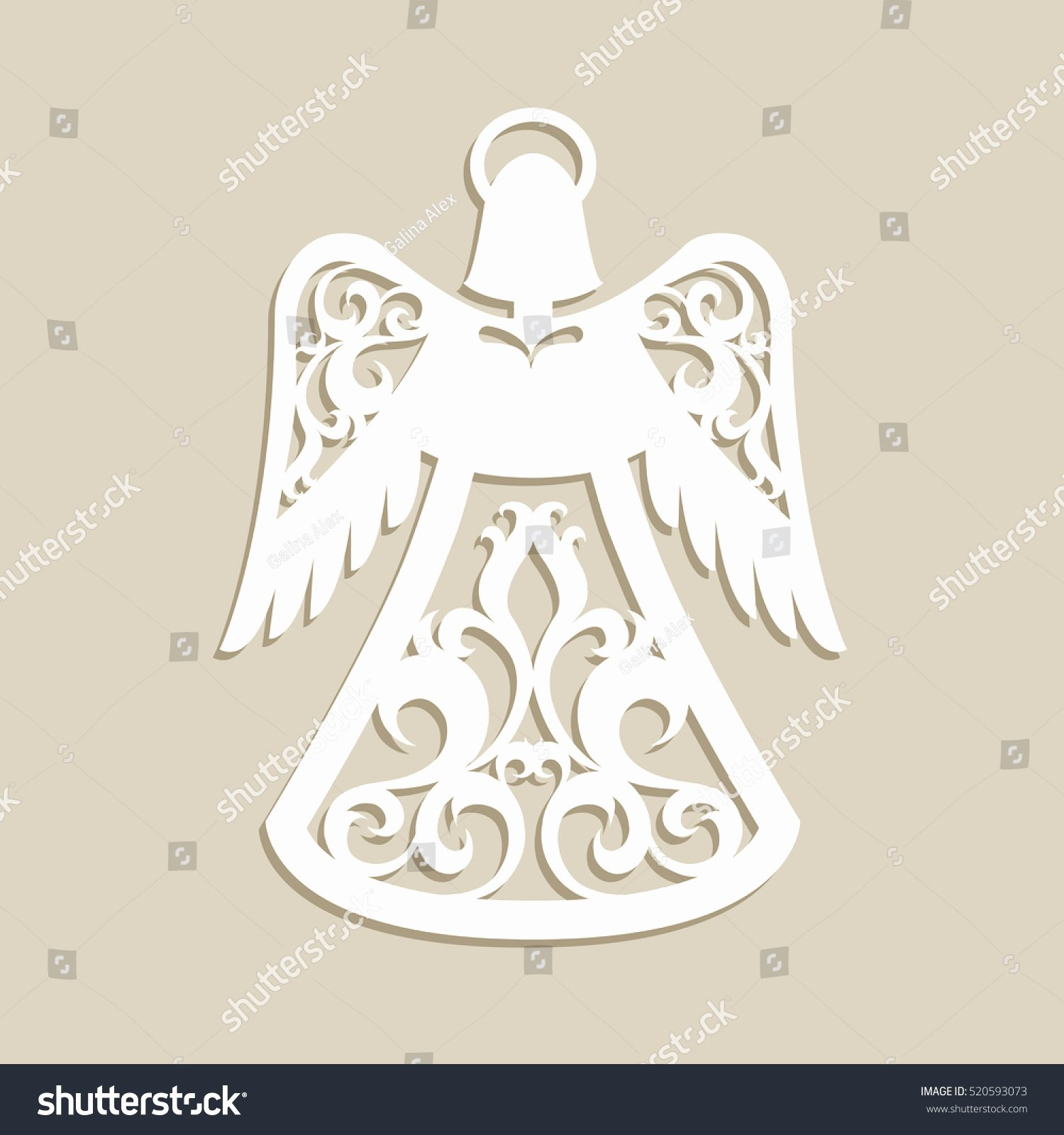 Angel Tree Template Luxury Christmas Carved Openwork Angel Template Laser Stock