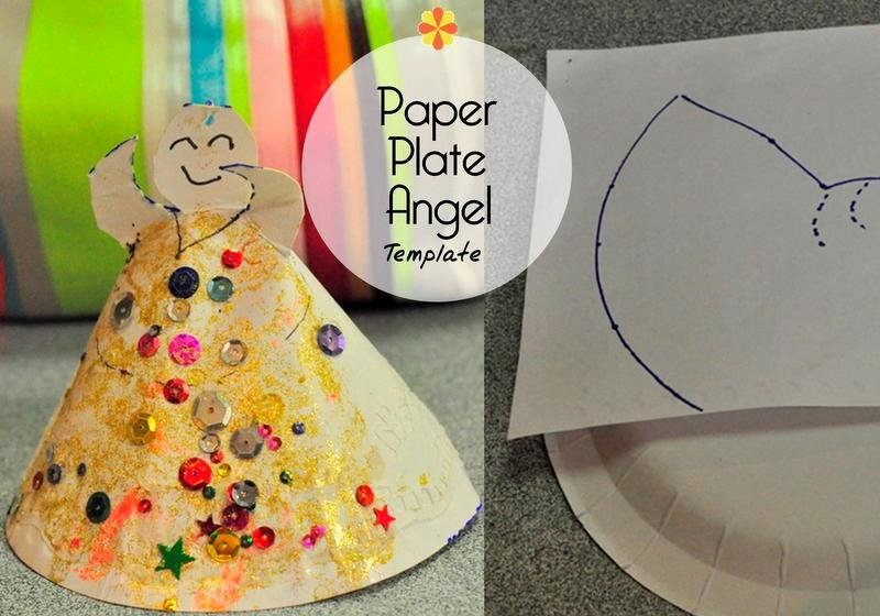 Angel Tree Template Luxury Christmas Craft Paper Plate Christmas Angel – Be A Fun Mum