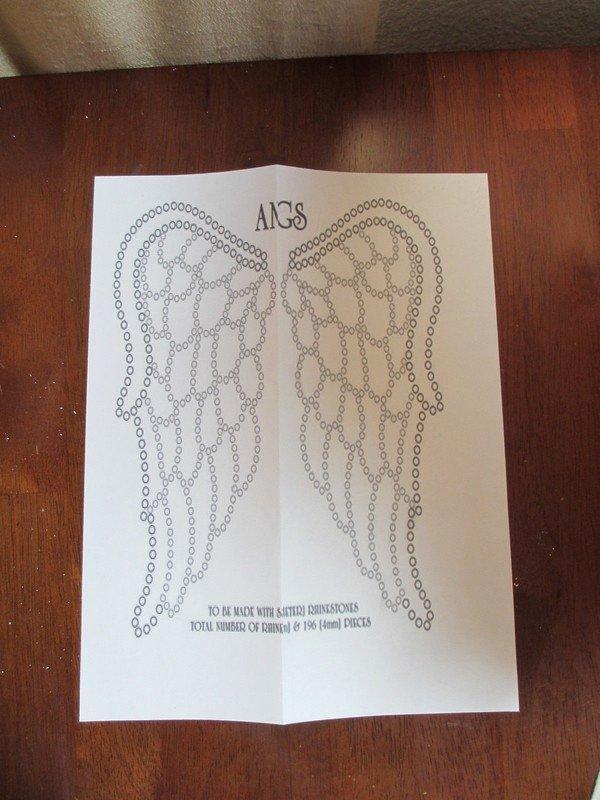 angel wings cut out tee