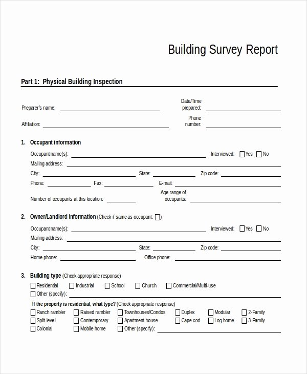 Apartment Market Survey form Awesome 32 Survey Template Free Sample Example format