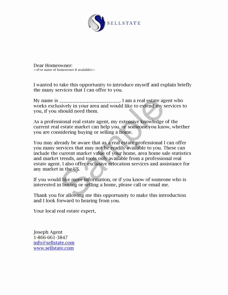 Apartment Market Survey Template Elegant Real Estate Letters Of Introduction Introduction Letter