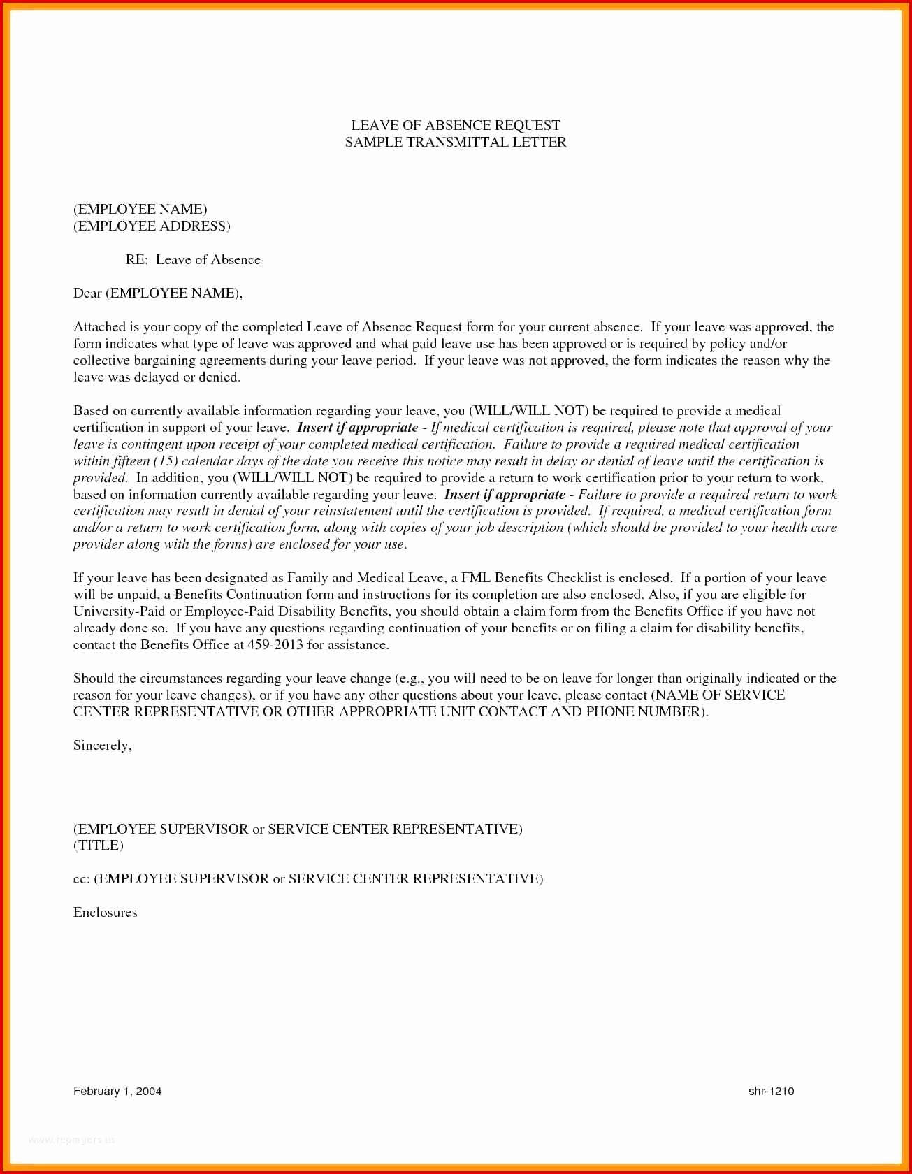 Approval Letter Example Luxury Sample Letter Request for Change Vacation Leave
