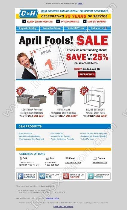 email design april fools day