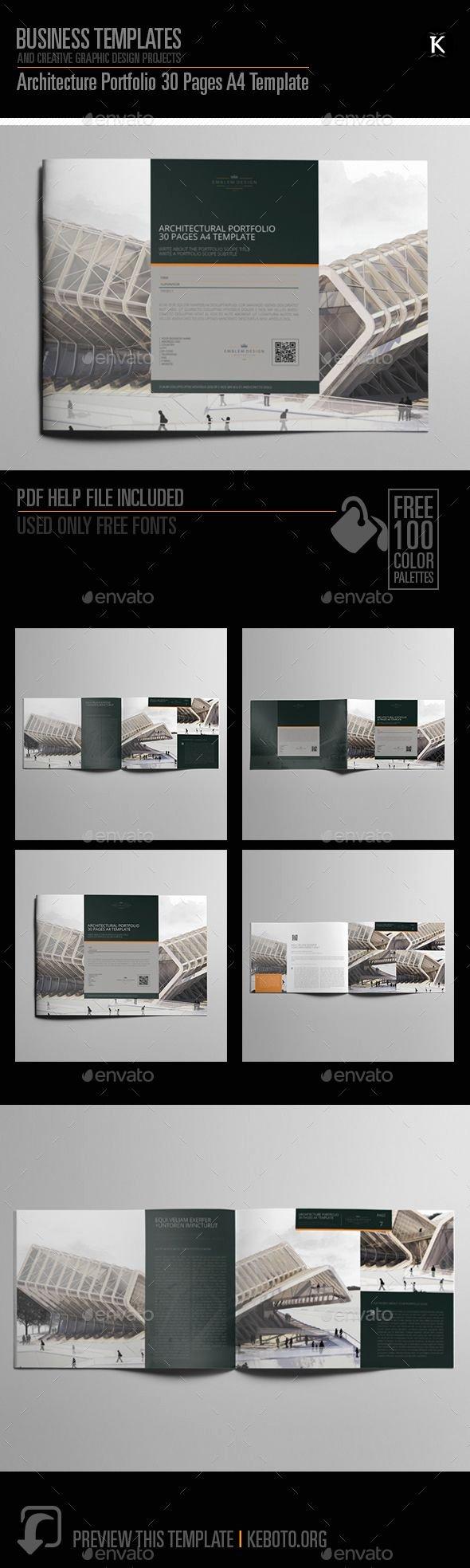 Architecture Portfolio Template Indesign Elegant Architecture Portfolio Brochure Template Indesign Indd 30